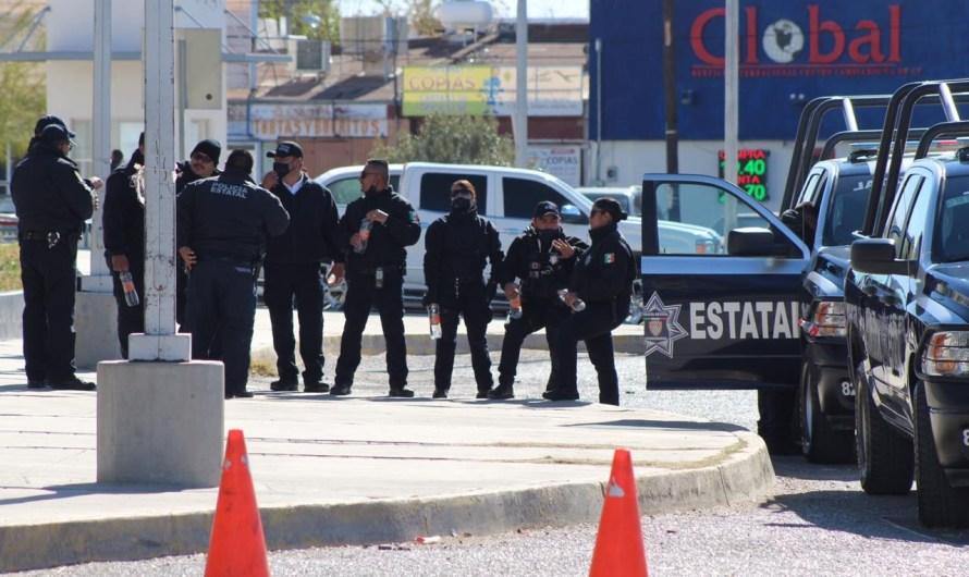 Elementos de Seguridad Estatal resguardan oficinas de Gobierno del Estado