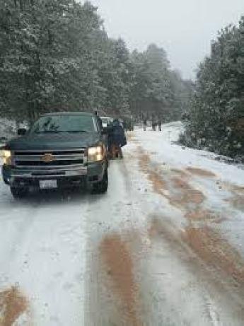 Se presenta la nieve en 30 municipios de Chihuahua