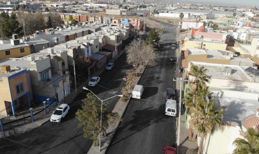 Repavimentación terminada en calle Juan Kepler