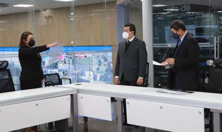 Toma de protesta de Lucina Fierro Chávez como Coordinadora General del CERI 911
