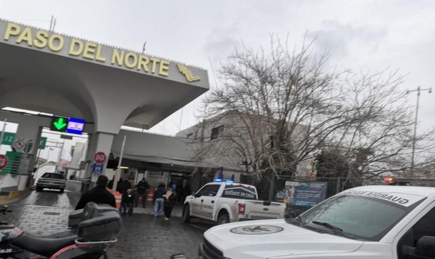 Supuesta manifestación de migrantes moviliza fuerzas de seguridad en Juárez