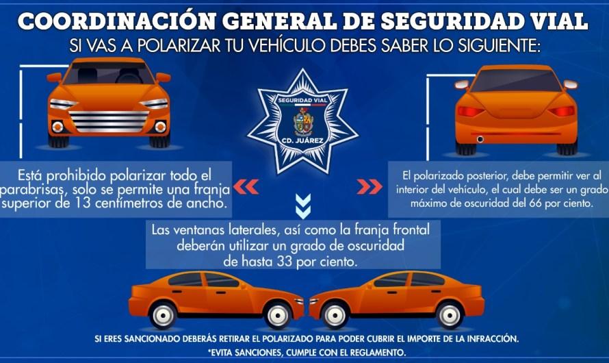 Seguridad Vial: Deben polarizarse vehículos conforme al Reglamento