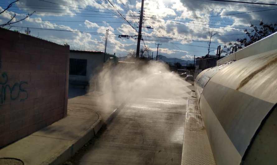 Continúa higienización de la ciudad para prevenir contagios por COVID-19