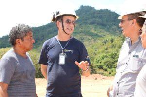 DNPM, presidente da COOMIC e engenheiros que dão apoio a entidade na implantação do projeto piloto