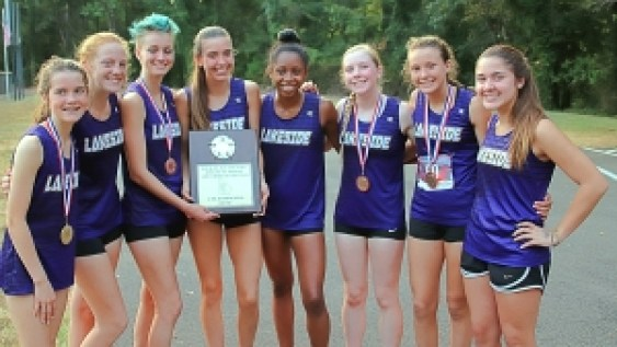 2019 DCSD Girls County Cross Country Champions - Lakeside Lady Vikings