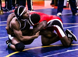 Southwest Jaheim Williams (left) captured the 145 weight class in 2019, but is moving up to 152 this year. (Photo by Mark Brock)