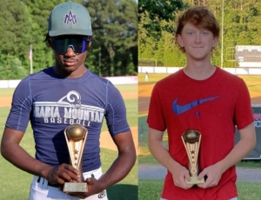 (l-r) Arabia Mountain's Deven Tallington (East) and Dunwoody's Zach Heavern (West) were named their respective teams' MVPs.