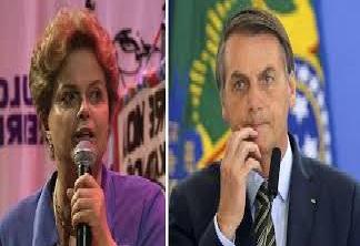Dilma e Bolsonaro