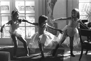 This photo of the three young ballerinas was taken by Gary Gruby at Cumberland Island.