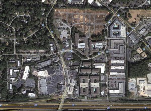 """Dunwoody's master plan envisions the Georgetown/North Shallowford area as pedestrian- and bike-friendly, with a mix of commercial, retail, office and residential space. City officials would like to begin working on a """"brand"""" for the district. /File photo."""