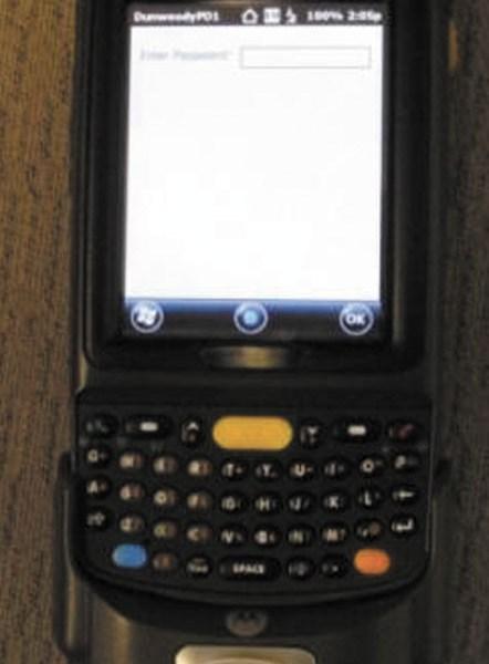 The Rapid ID Mobile Fingerprint Scanner.