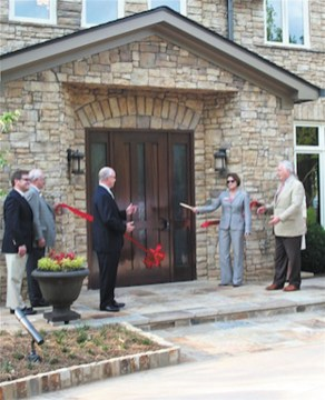 Holy Innocents Alumni Hall Opens-ribbon cut