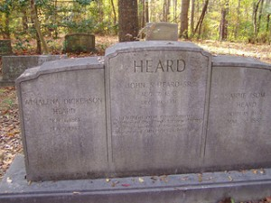The grave of Judge John Heard.