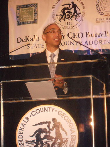 DeKalb CEO Burrell Ellis delivers his 'State of the County' address on Jan.29.