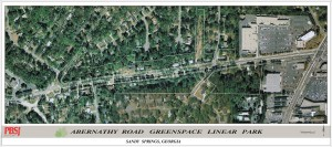 """This is the site of the Abernathy Linear Greenway Park in Sandy Springs which will feature a """"playable art"""" park when completed. The project is several months behind schedule."""