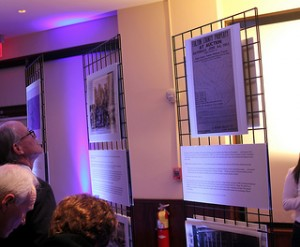 Guests at Buckhead's 175th Anniversary celebration held March 1 look at photos chronicling the community's history.