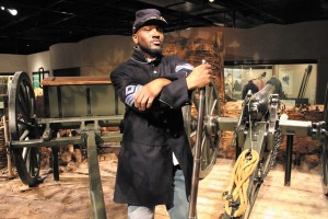 "Roderick Davis portrays a 54th regiment soldier during a previous  Civil War program at the Atlanta History Center. The center is putting on ""Citizens and Soldiers: The Civil War,"" noting the 150th anniversary of the conflict."