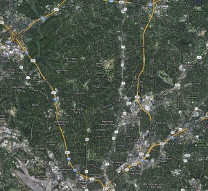 Roswell Road NE and Peachtree Dunwoody Road NE form the North Buckhead neighborhood's western and eastern borders. Its southernmost boundary is the intersection of Peachtree Road Northeast and Piedmont Road Northeast, and the neighborhood extends north just shy of Windsor Parkway Northeast. Ga. 400 runs north to south through it.