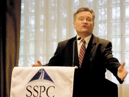 Dr. Roger Tutterow spoke at the Sandy Springs Perimeter Chamber of Commerce Bagels and Business Breakfast on April 15.