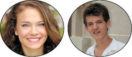 Alexandra Zdonczyk, left, Valedictorian, Washington University Lucien Viala, Salutatorian, McGill University