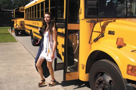 Graduates took busses from Dunwoody to the North DeKalb Stadium in Chamblee.