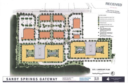 The Sandy Springs Planning Commission will likely consider approving the zoning for the Gateway project in July.