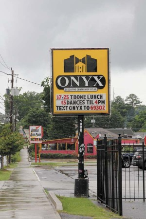The Onyx Club sign on Cheshire Bridge Road.