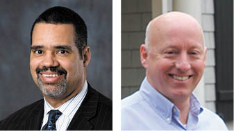 Atlanta BOE Chariman Rueben McDaniel, left, will face attorney Tom Tidwell, right, among others, for his seat.