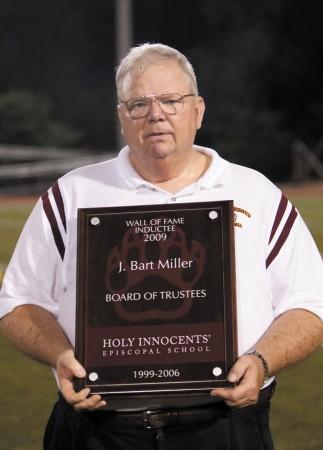 Bart Miller was key in bringing a football program to Holy Innocents' Episcopal School.