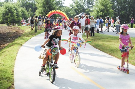 The 2013 grand opening of the Brook Run trail brought out the crowds.