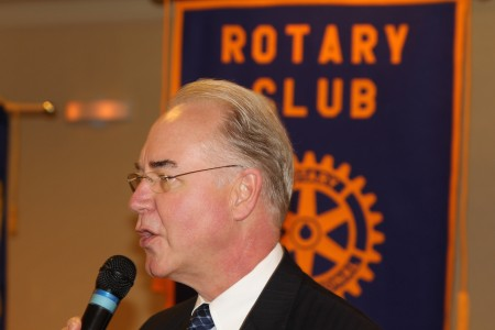 Sixth District U.S. Rep. Tom Price (R-Roswell) addresses the Rotary Club of Sandy Springs.