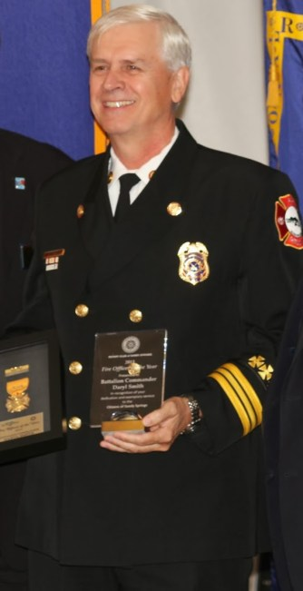 Fire Officer of the Year Battalion Commander Daryl Smith