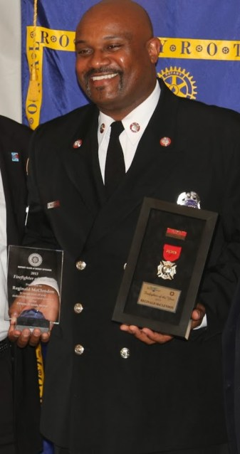 Firefighter of the Year Reginald McClendon