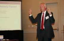 Charles Kuck, managing partner at Kuck Immigration Partners LLC, speaking to the Sandy Springs/Perimeter Chamber of Commerce on Oct. 21.
