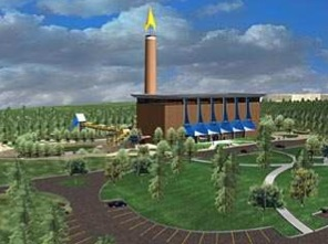A rendering of the Atlanta Riverwalk park.