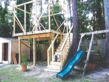 A photo of the partially-constructed tree house. Source: Sandyspringsga.gov