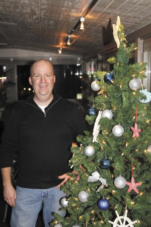 Light-emitting diode (LED) lights are finding their way to more holiday displays this year. Jason Sheetz of Hammock Trading Company considered using them this year.