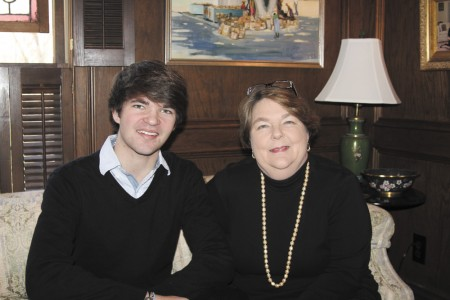 Holy Innocents' Episcopal School senior Peter Myer plans on becoming a doctor. His mother, Deborah McCarty, will weigh scholarship offers when helping to make a decision.