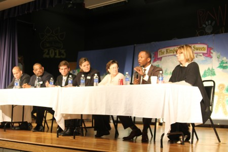 Members of the Atlanta Board of Education spoke to the North Atlanta Parents for Public Schools on Feb. 26 at E. Rivers Elementary School.