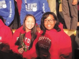 Riverwood International Charter School seniors Mae Davis, left,  and India Smith will both attend Boston University on Posse Foundation scholarships.
