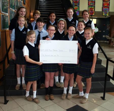 St. Martin's 5th-graders raised $1,000 fpr marine researchers.