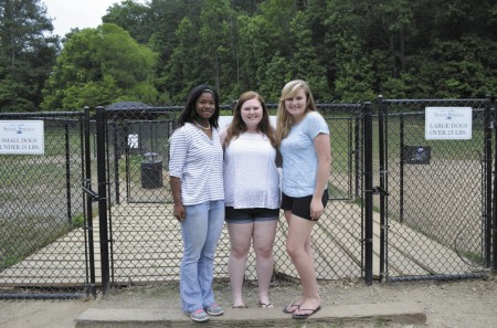 From left, Aundria Douglas, Sierra Middleton and Elizabeth McLochlin.