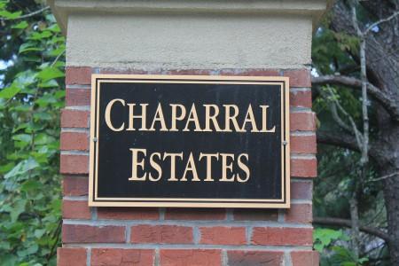 Chaparral Estates sign