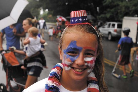 A scene from Chastain's Fourth of July parade in 2013.
