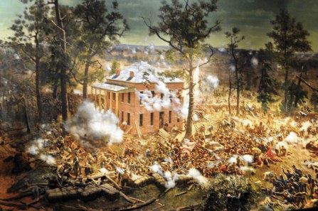 Detail from the Battle of Atlanta painting.