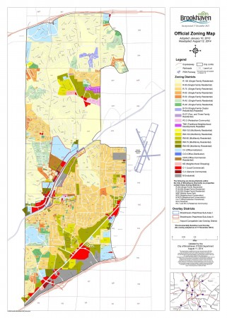 Brookhaven's amended zoning map. Source: City of Brookhaven