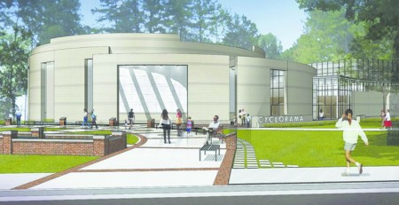 Artist's rendering of the new Cyclorama building.