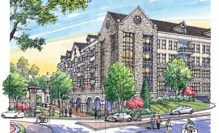 Rendering: Gables Oglethorpe at the Hermance Drive traffic circle