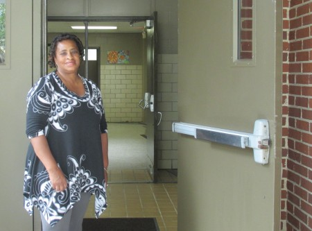 Cassandra Bryant welcomes visitors to the Lynwood Park Recreation Center.