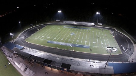 Pace Academy's new Walsh Field. The school's Athletics Complex also includes a baseball field, multipurpose field for football, soccer and lacrosse, locker rooms, an athletic training facility and a snack bar.